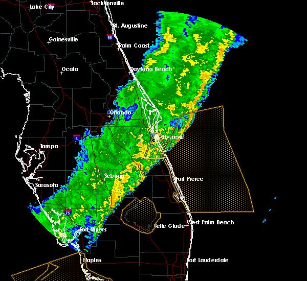 Radar Image for Severe Thunderstorms near Malabar, FL at 2/7/2020 2:24 AM EST