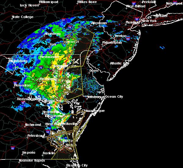 Radar Image for Severe Thunderstorms near Lexington Park, MD at 2/7/2020 9:19 AM EST