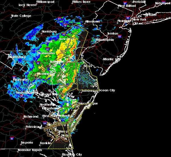 Radar Image for Severe Thunderstorms near Wilmington, DE at 2/7/2020 9:39 AM EST