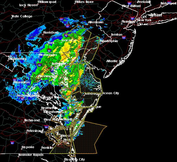 Radar Image for Severe Thunderstorms near Wilmington, DE at 2/7/2020 9:43 AM EST