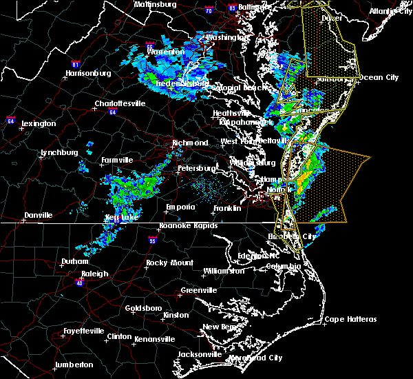 Radar Image for Severe Thunderstorms near Chesapeake, VA at 2/7/2020 9:48 AM EST