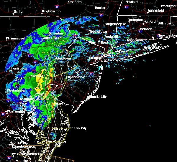 Radar Image for Severe Thunderstorms near Wilmington, DE at 2/7/2020 9:50 AM EST