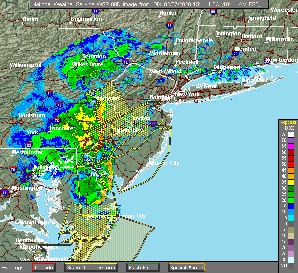 Radar Image for Severe Thunderstorms near Wilson, PA at 2/7/2020 10:17 AM EST