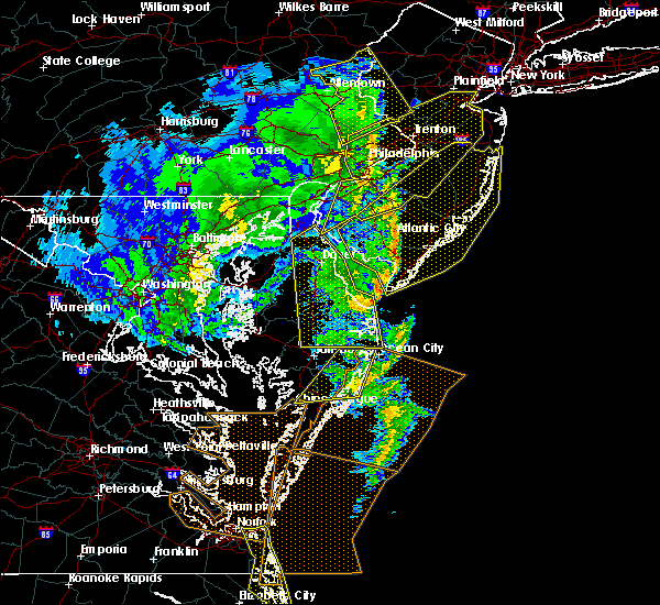 Radar Image for Severe Thunderstorms near Pittsville, MD at 2/7/2020 10:25 AM EST