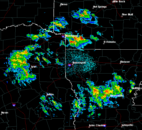 Radar Image for Severe Thunderstorms near Rosston, AR at 2/9/2020 10:02 PM CST