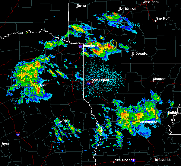 Radar Image for Severe Thunderstorms near Rosston, AR at 2/9/2020 10:12 PM CST