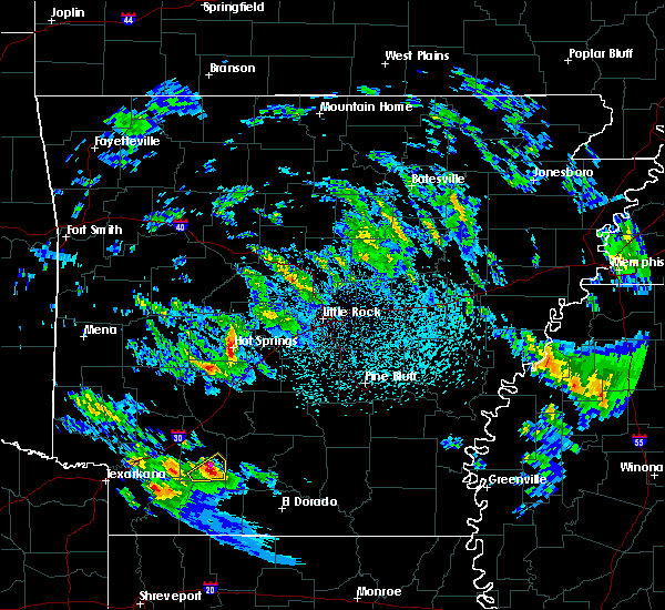 Radar Image for Severe Thunderstorms near Sparkman, AR at 2/9/2020 10:25 PM CST