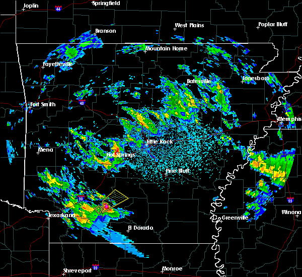 Radar Image for Severe Thunderstorms near Sparkman, AR at 2/9/2020 10:30 PM CST