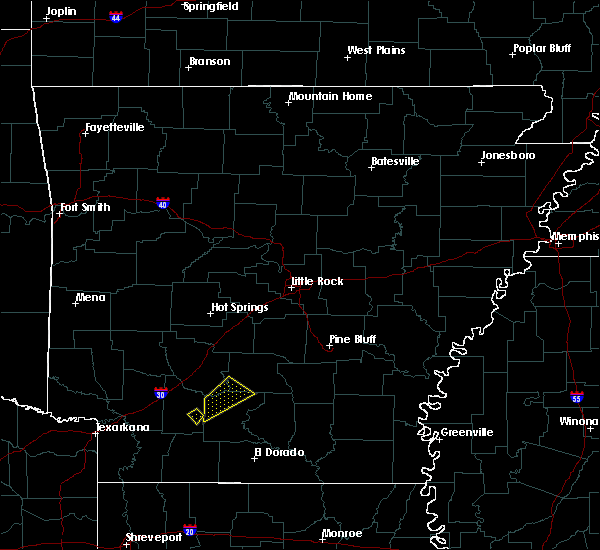 Radar Image for Severe Thunderstorms near Sparkman, AR at 2/9/2020 10:36 PM CST