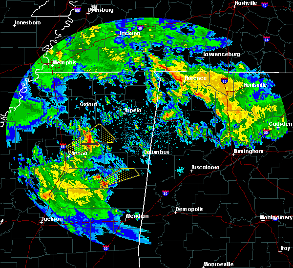 Radar Image for Severe Thunderstorms near Noxapater, MS at 2/10/2020 2:31 AM CST