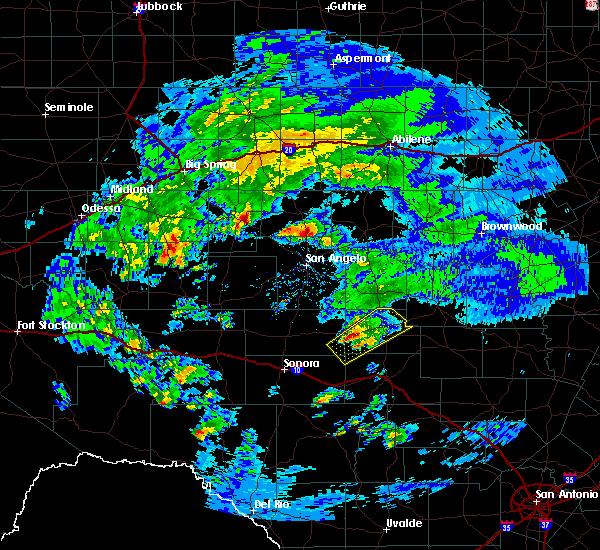 Radar Image for Severe Thunderstorms near Menard, TX at 2/10/2020 9:40 AM CST