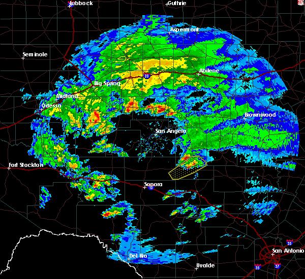 Radar Image for Severe Thunderstorms near Menard, TX at 2/10/2020 9:54 AM CST