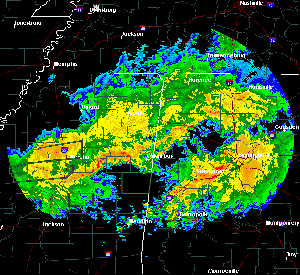 Radar Image for Severe Thunderstorms near Mississippi State, MS at 2/10/2020 11:52 AM CST