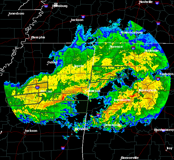Radar Image for Severe Thunderstorms near Mississippi State, MS at 2/10/2020 12:08 PM CST