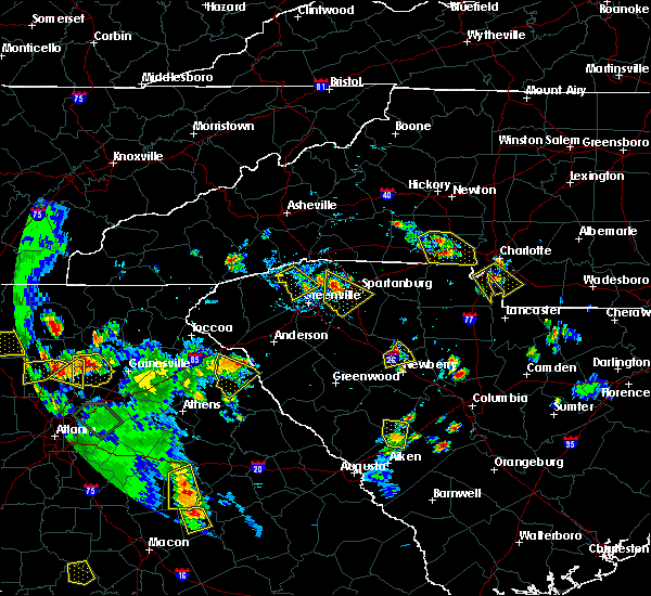 Radar Image for Severe Thunderstorms near Spencer Mountain, NC at 6/24/2015 6:15 PM EDT