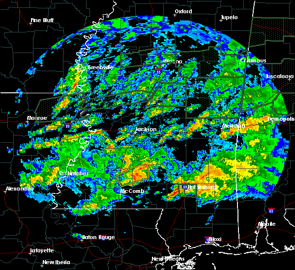 Radar Image for Severe Thunderstorms near New Hebron, MS at 2/10/2020 5:30 PM CST