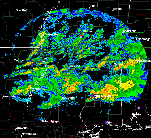 Radar Image for Severe Thunderstorms near New Hebron, MS at 2/10/2020 5:35 PM CST