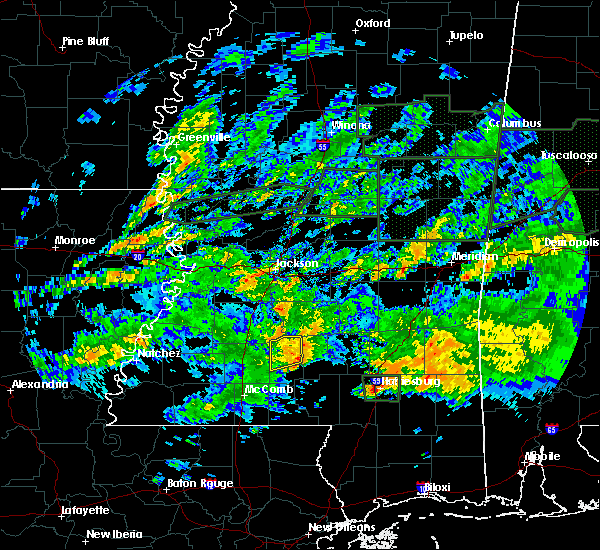 Radar Image for Severe Thunderstorms near New Hebron, MS at 2/10/2020 5:57 PM CST