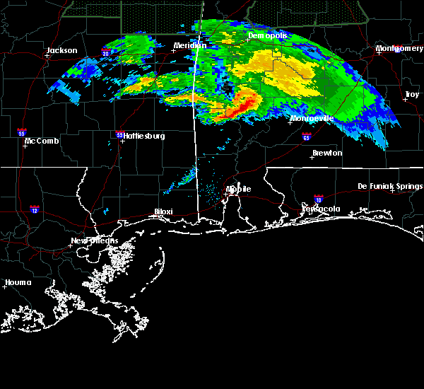 Radar Image for Severe Thunderstorms near Fulton, AL at 2/10/2020 8:04 PM CST