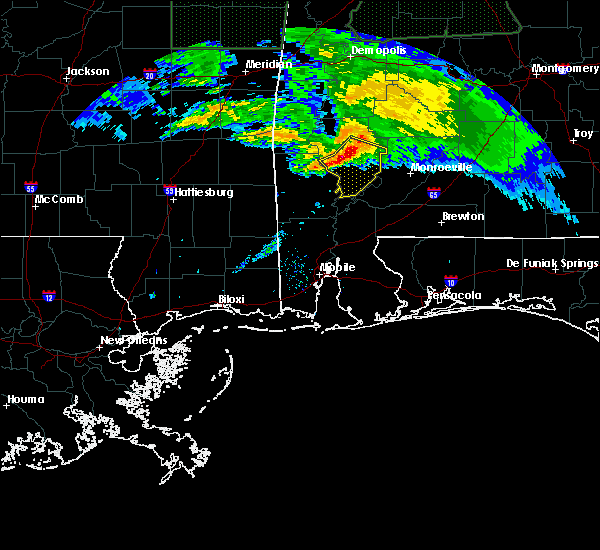 Radar Image for Severe Thunderstorms near Fulton, AL at 2/10/2020 8:10 PM CST