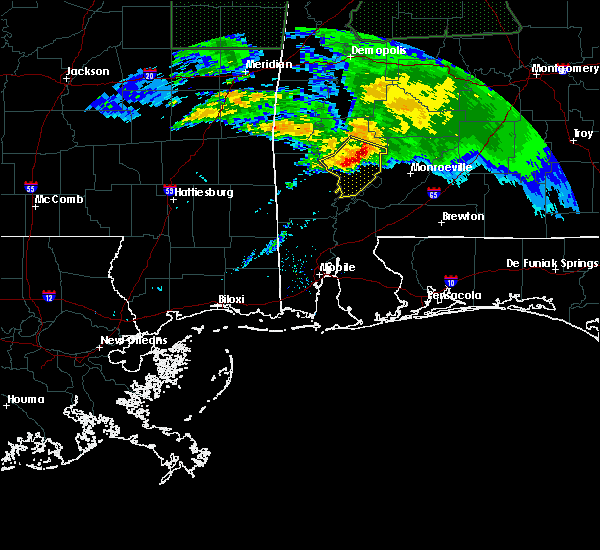 Radar Image for Severe Thunderstorms near Fulton, AL at 2/10/2020 8:23 PM CST