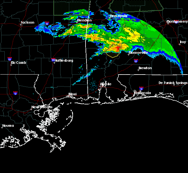 Radar Image for Severe Thunderstorms near Fulton, AL at 2/10/2020 8:39 PM CST