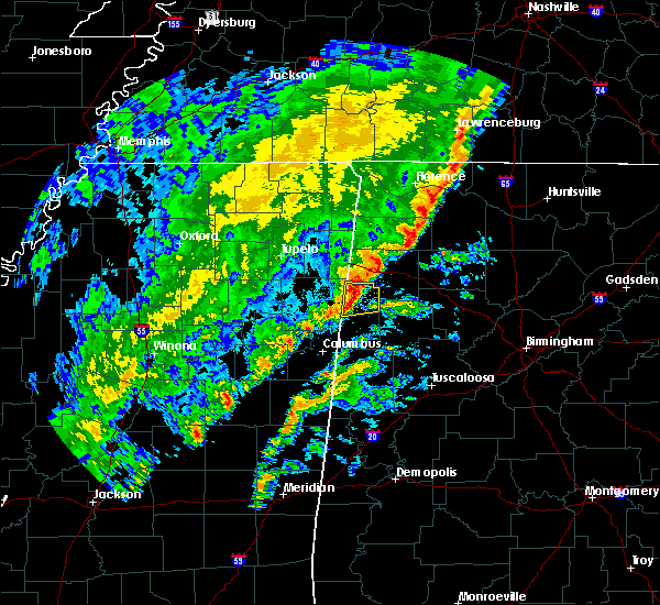Radar Image for Severe Thunderstorms near Detroit, AL at 2/12/2020 5:30 PM CST