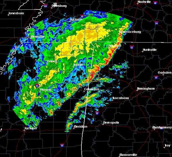 Radar Image for Severe Thunderstorms near Hamilton, AL at 2/12/2020 5:29 PM CST