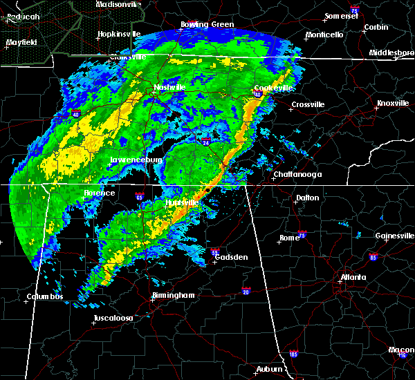 Radar Image for Severe Thunderstorms near Tullahoma, TN at 2/12/2020 7:14 PM CST