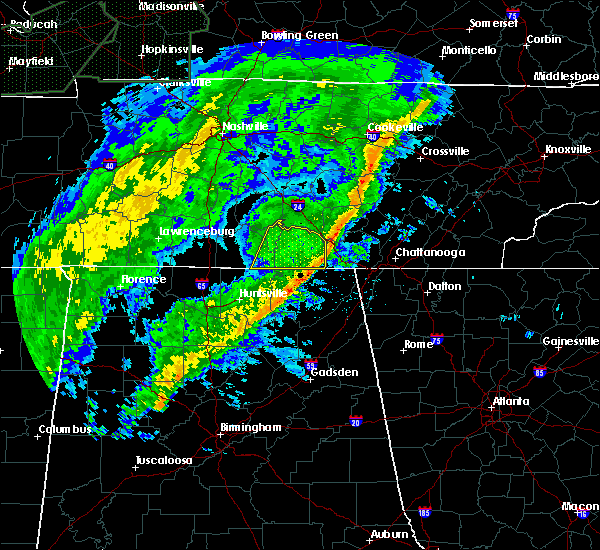 Radar Image for Severe Thunderstorms near Mowbray Mountain, TN at 2/12/2020 7:22 PM CST
