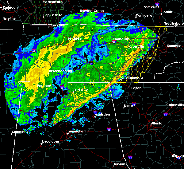 Radar Image for Severe Thunderstorms near Mowbray Mountain, TN at 2/12/2020 9:01 PM EST
