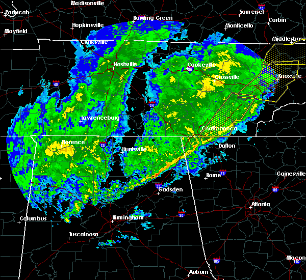 Radar Image for Severe Thunderstorms near Decatur, TN at 2/12/2020 9:59 PM EST