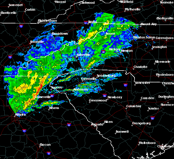 Radar Image for Severe Thunderstorms near Gumlog, GA at 2/13/2020 6:49 AM EST