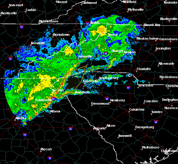 Radar Image for Severe Thunderstorms near Gumlog, GA at 2/13/2020 7:31 AM EST