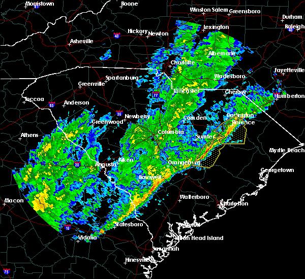 Radar Image for Severe Thunderstorms near Shiloh, SC at 2/13/2020 1:32 PM EST