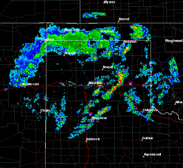 Radar Image for Severe Thunderstorms near Lefors, TX at 2/23/2020 4:00 PM CST