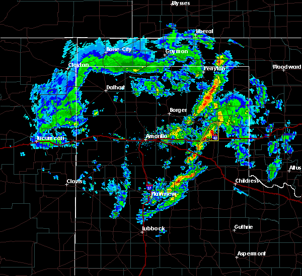 Radar Image for Severe Thunderstorms near McLean, TX at 2/23/2020 4:38 PM CST
