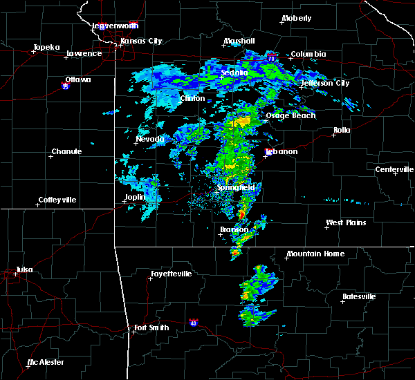 Radar Image for Severe Thunderstorms near Ava, MO at 2/24/2020 11:56 AM CST