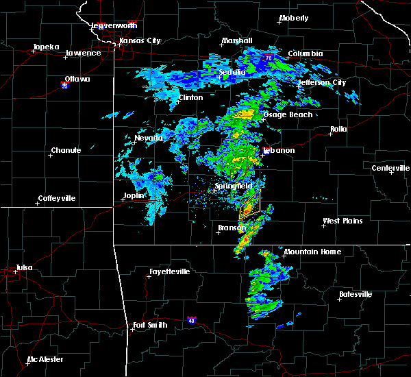 Radar Image for Severe Thunderstorms near Ava, MO at 2/24/2020 12:09 PM CST