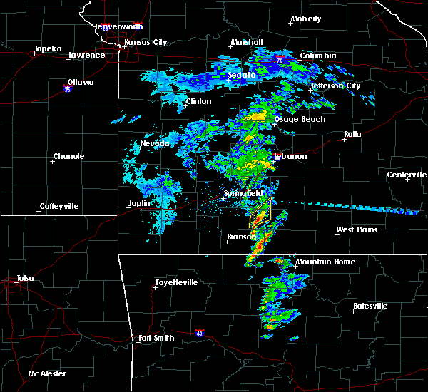 Radar Image for Severe Thunderstorms near Ava, MO at 2/24/2020 12:18 PM CST