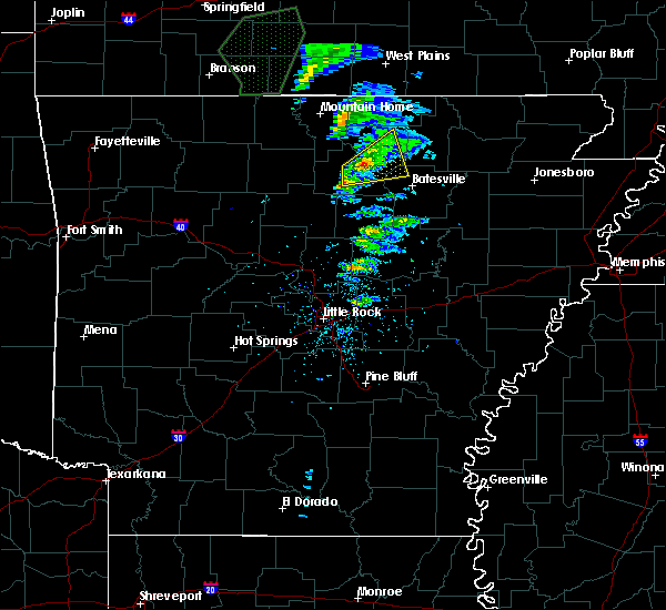Radar Image for Severe Thunderstorms near Guion, AR at 2/24/2020 1:28 PM CST
