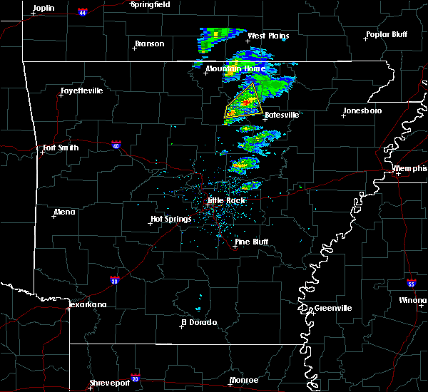 Radar Image for Severe Thunderstorms near Guion, AR at 2/24/2020 1:41 PM CST