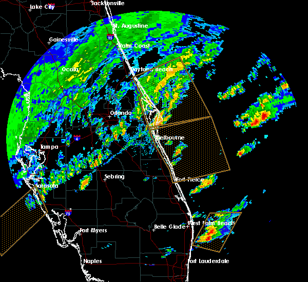 Radar Image for Severe Thunderstorms near Cocoa West, FL at 2/26/2020 4:49 PM EST