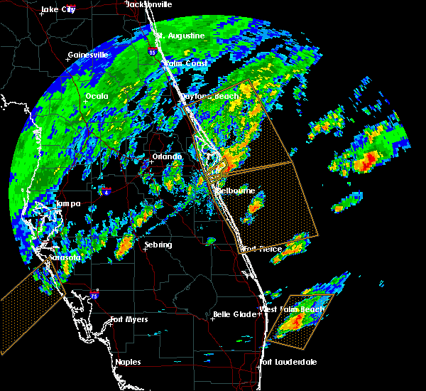 Radar Image for Severe Thunderstorms near Cocoa West, FL at 2/26/2020 4:59 PM EST