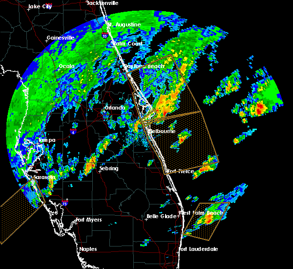 Radar Image for Severe Thunderstorms near Cocoa West, FL at 2/26/2020 5:12 PM EST