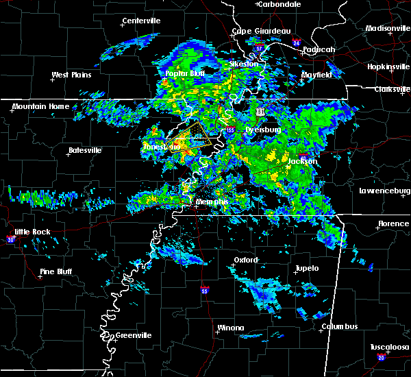 Radar Image for Severe Thunderstorms near Blytheville, AR at 3/1/2020 6:58 PM CST