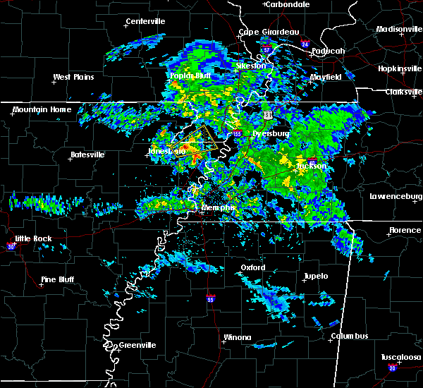 Radar Image for Severe Thunderstorms near Blytheville, AR at 3/1/2020 7:07 PM CST