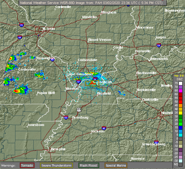 Radar Image for Severe Thunderstorms near Farley, KY at 3/2/2020 5:40 PM CST