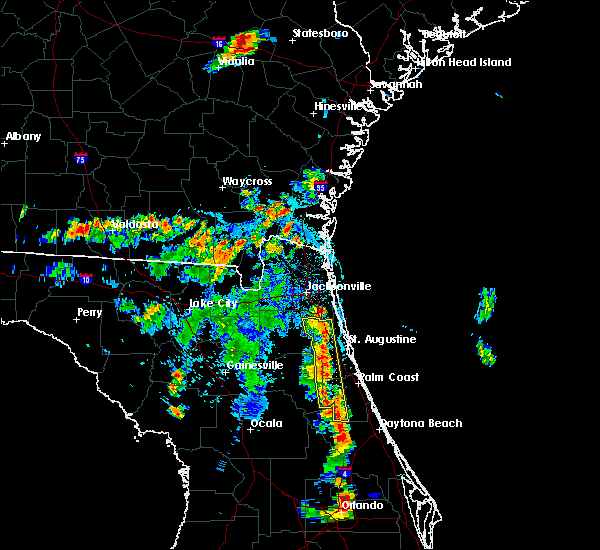 Radar Image for Severe Thunderstorms near Bunnell, FL at 6/24/2015 6:45 PM EDT