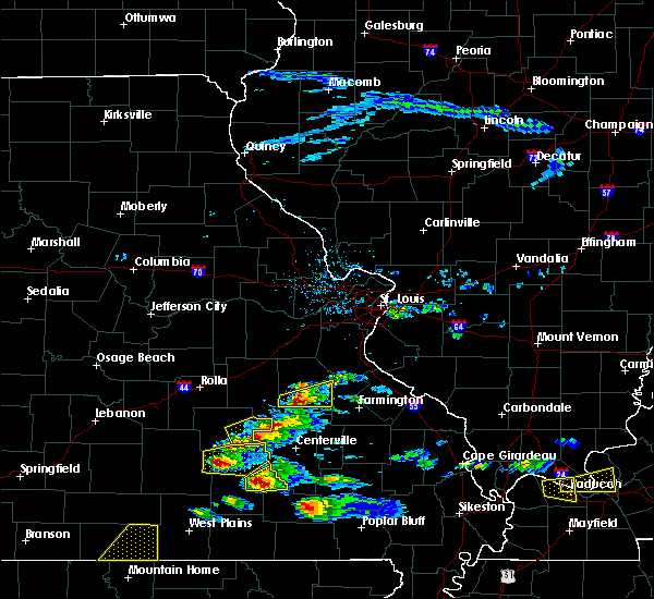 Radar Image for Severe Thunderstorms near Irondale, MO at 3/2/2020 6:05 PM CST